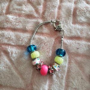 Neon Lights Charm Bracelet